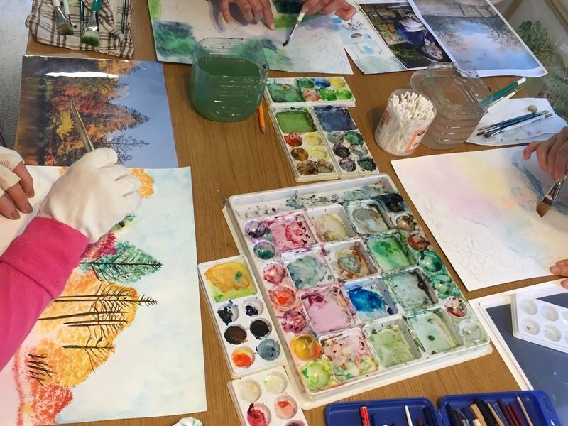水彩画の初級編 筆の使い方と書き方の基本 楽しく大胆に描くの画像