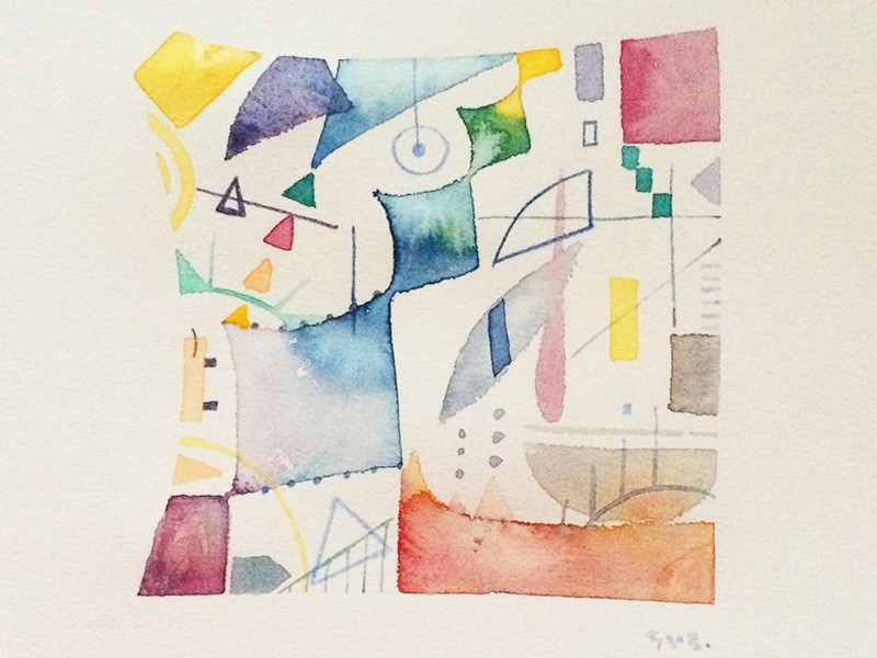 Online講座!はじめての抽象画〜形の中の抽象画〜の画像