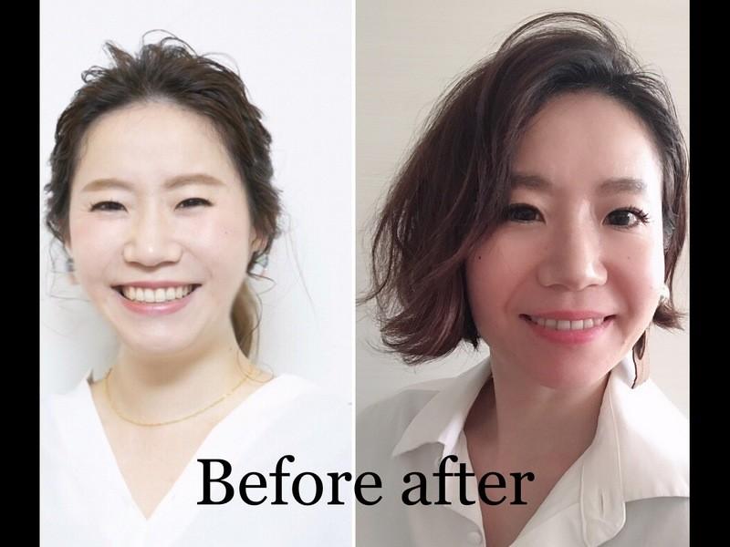 今の髪型に似合うヘアケスタイリング講座!!の画像
