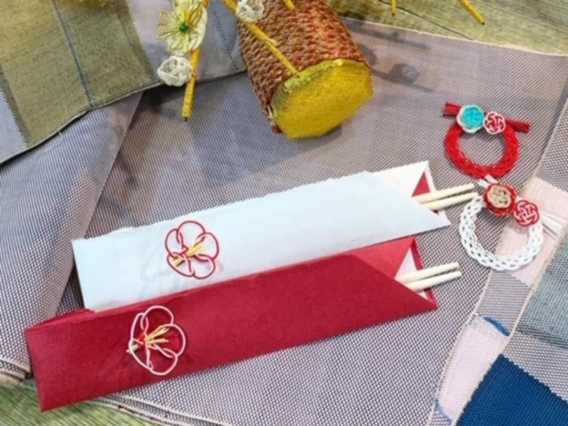 <お正月>水引の箸置きと箸袋 ※2セット制作の画像