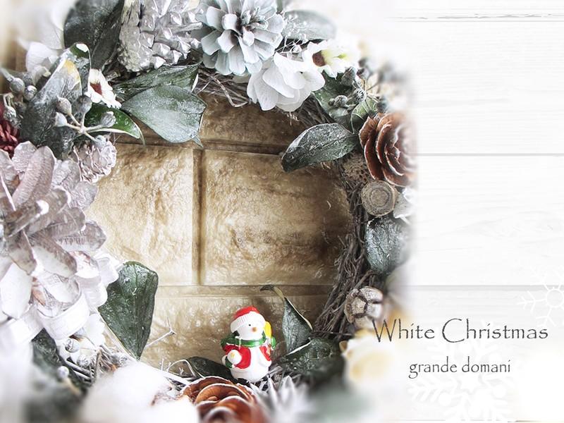 グリーン系クリスマスリース♪ 今年はプリザーブドのアイビーで。の画像