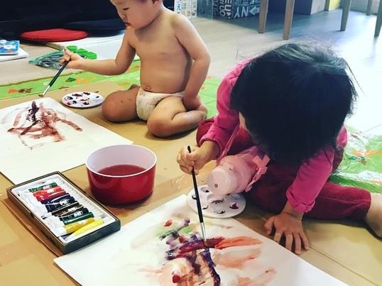 Xmasカードや年賀状を親子で!子どもの感性を育てるお絵描き講座の画像