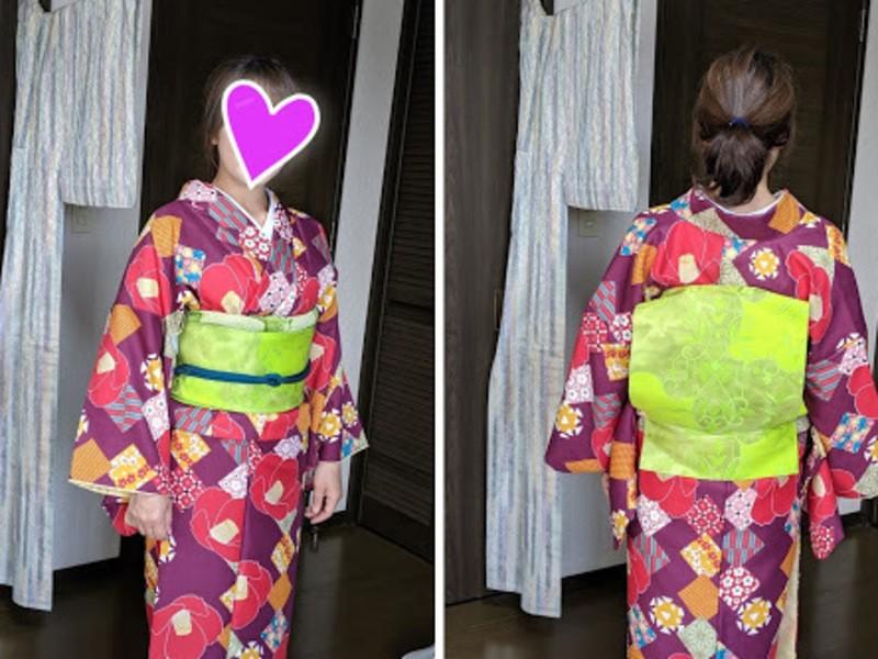 一人で着れる!帯まで結べる!わかりやすい着付け教室(6回コース)の画像