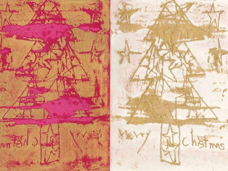 蜜蝋画(ミツロウガ)で初めてのクリスマスカードづくりの画像