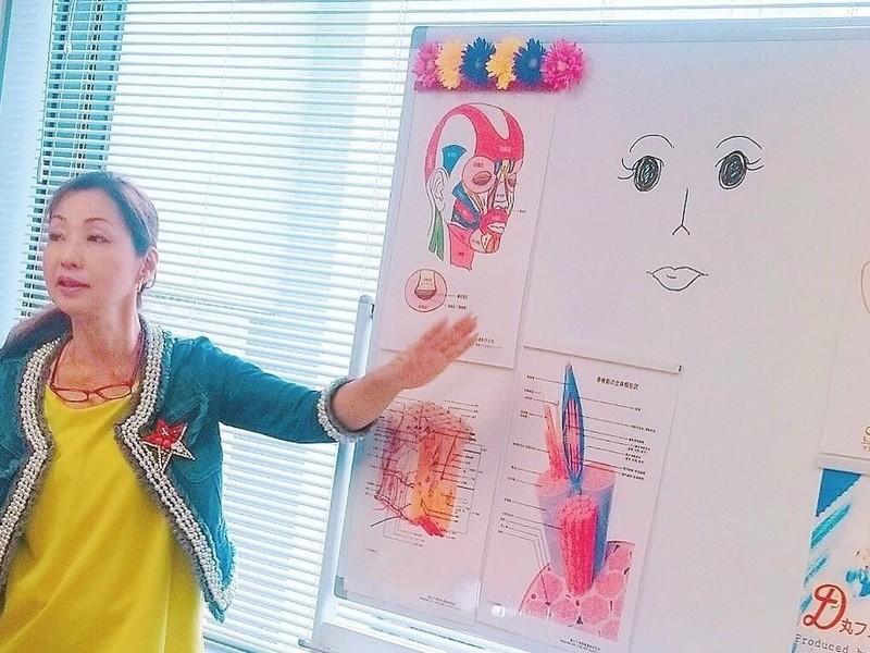 60個の表情筋を鍛えマイナス10歳肌!お顔の筋トレ!顔ヨガ@名古屋の画像