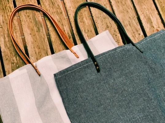 《NEW!》栃木レザーで作る革持ち手のトートバッグの画像