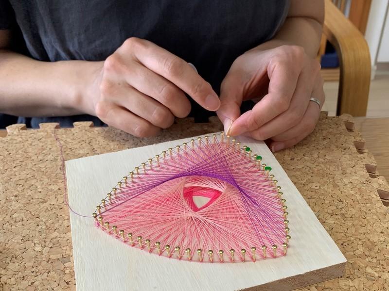 【糸かけ数楽アート教室】自分だけの15cm角の世界!の画像