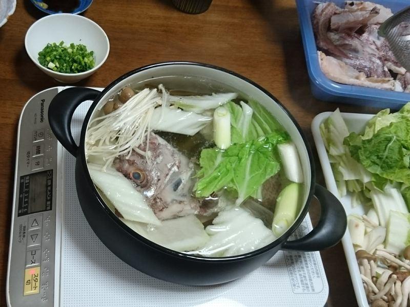 中型魚をさばいて、あら炊き、刺身・ちり鍋を作ろう!(ランチ付き)の画像