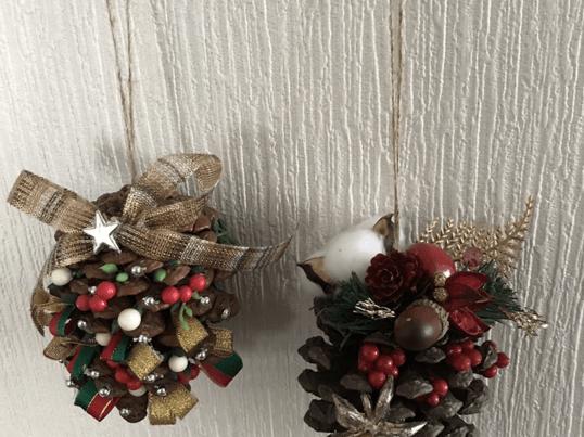 女性専用 松ぼっくりでクリスマスツリー二個組み 占い付き無料の画像