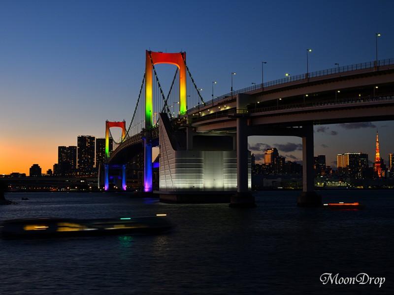 夜写ん歩レッスン☆虹色に輝くレインボーブリッジを撮ろう! の画像