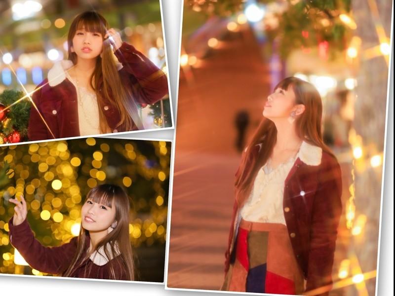 イルミネーションポートレート☆キラキラ輝く女の子を撮ってみよう✨の画像