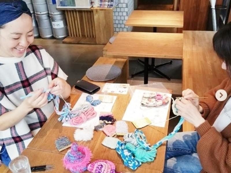 可愛く作れるモロッコカゴ講座♪編み物初心者もok 武蔵境の画像