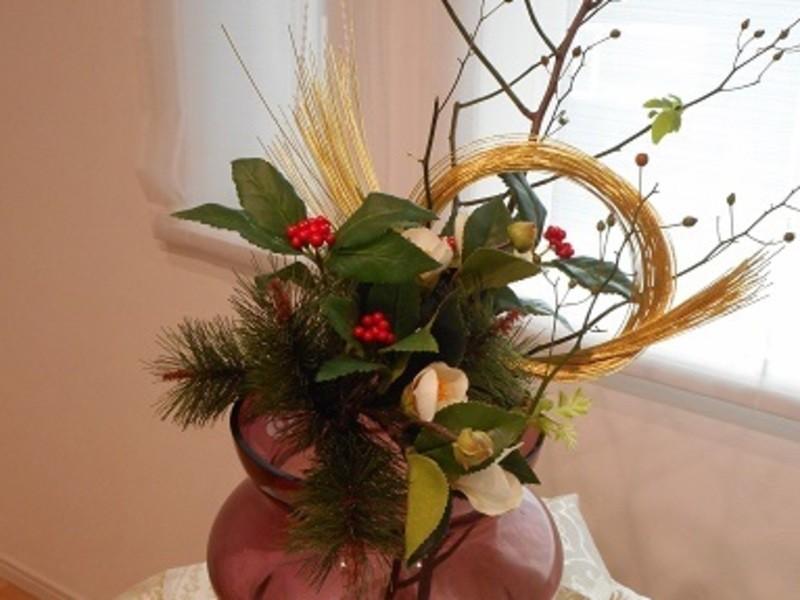 お正月の花を活けよう‼の画像