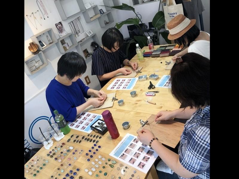 1月 横浜① ◆天然石のマクラメネックレス ワークショップ◆の画像
