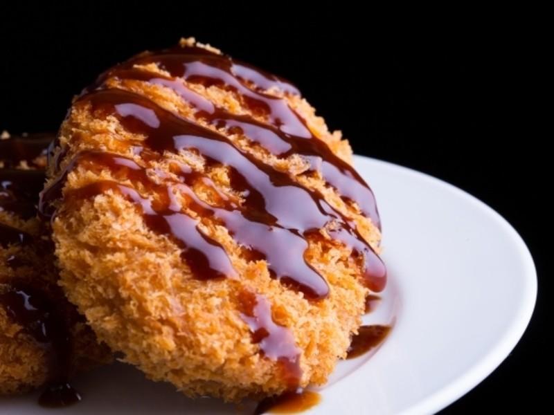 <揚げたてが食べたい、作りたい>ローストビーフコロッケ❌蟹クリームの画像