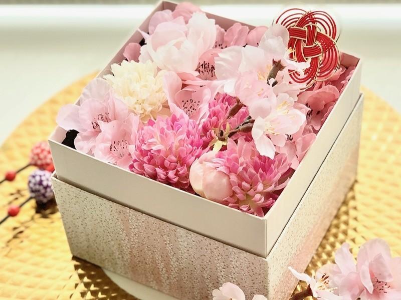 アロマ & フラワー 桜ボックス作り♪の画像