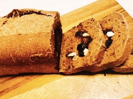 オーガニック全粒粉8割ふわふわ食パン♪お砂糖油脂なしでヘルシーの画像