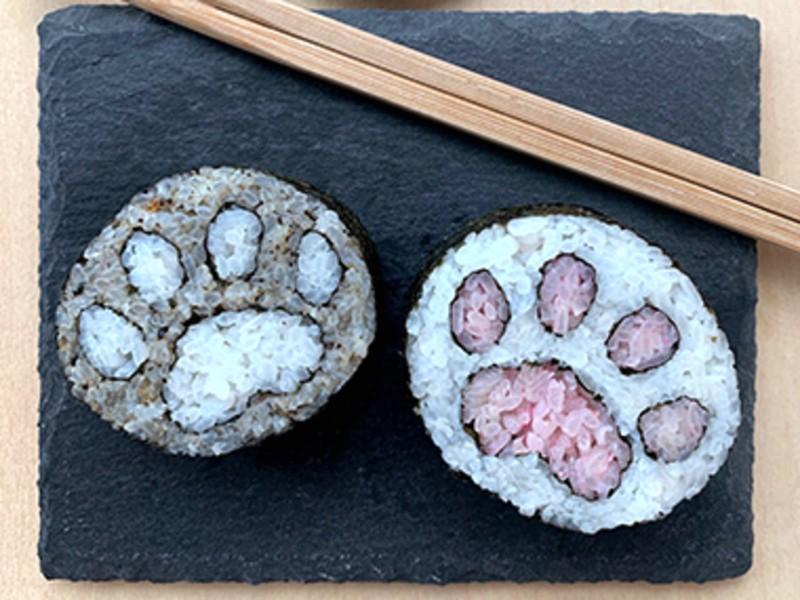 可愛い猫(シマ無し)の巻き寿司!色を選んで、オリジナルレシピ制作もの画像