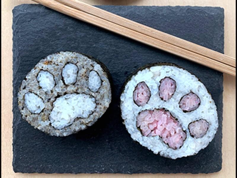 可愛い猫(シマ有り)の巻き寿司!色を選んで、オリジナルレシピ制作もの画像