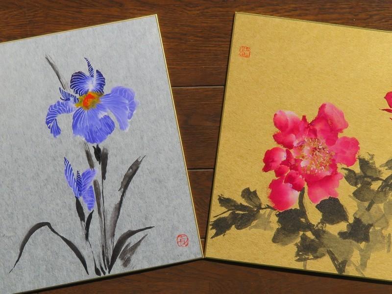 美しいカワセミを描く(墨彩画)の画像