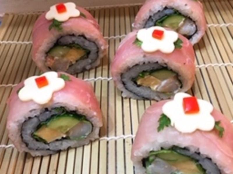 初心者歓迎 デコ巻き寿司 ロール巻きコース(2種類・動画付)の画像