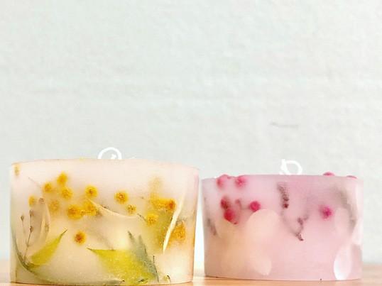 春限定♪桜とミモザのキャンドルを手作りしよう♪の画像