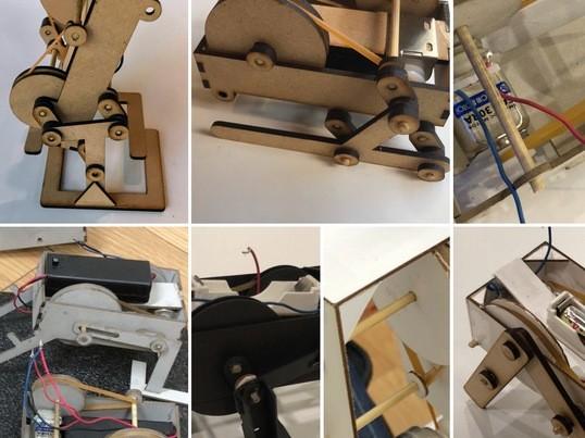 2足4足変身!輪ゴムとモーターで歩く木製ロボットを作ろう!!の画像