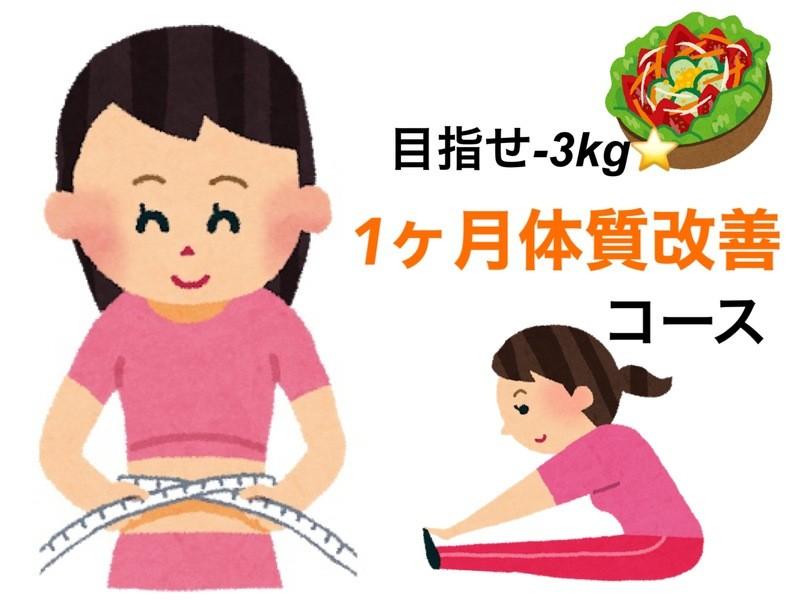 【初心者OK】目指せマイナス3kg!体質改善一ヶ月コース食事管理付の画像