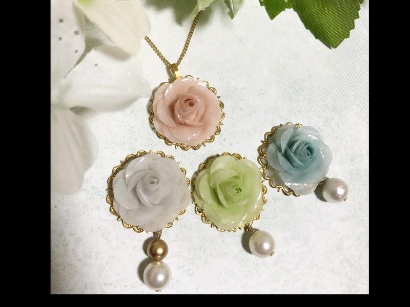 NEW!【バラのネックレス作り】紙からつくるお花 パピエル®の画像