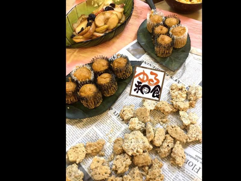 老けない低温おやつ作り(健脳クッキー・ケーキ・お好み焼き)の画像