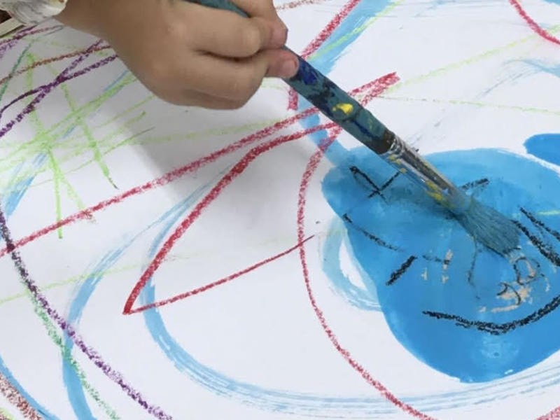 赤ちゃんも未就園児も◎親子で絵の具のアトリエ遊び!の画像
