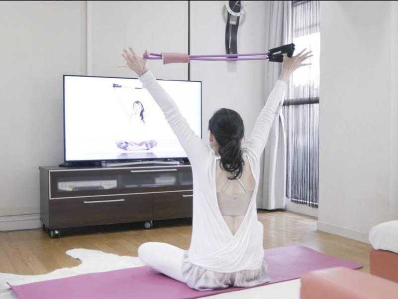 【オンライン】(3名で開催)肩こり緩和美姿勢になるチューブヨガの画像