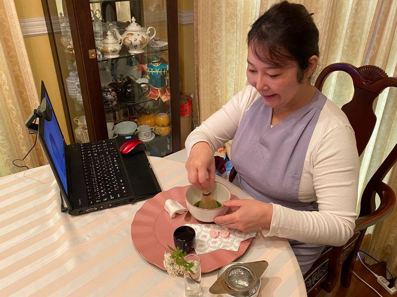 【オンライン】《ワンコイン企画》簡単カジュアル テーブル茶道 の画像
