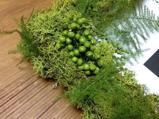 植物のフレーム作り講座*プリザーブドグリーン使用の画像