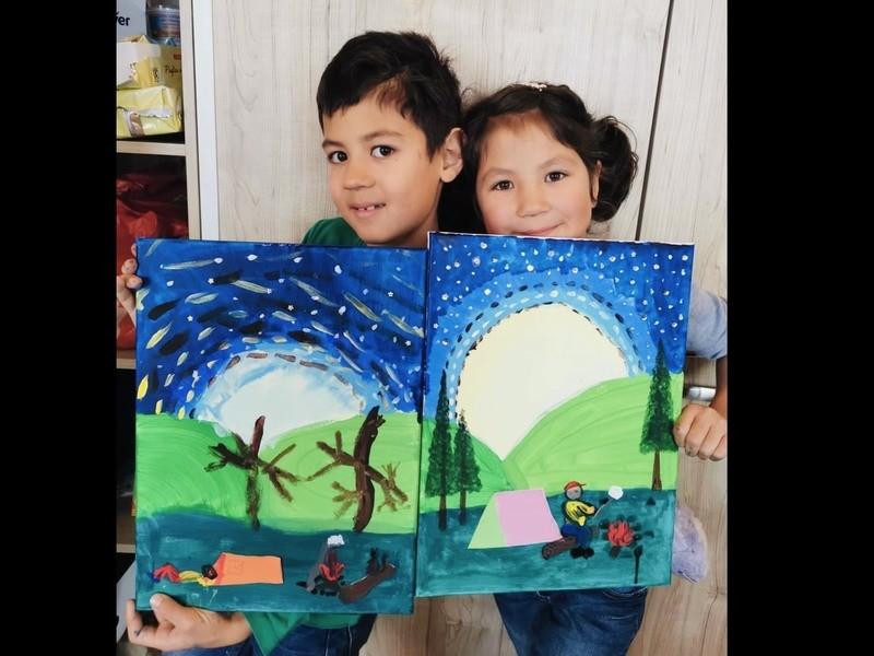 【英語で子供アート】工作・図工・絵画・美術クラスを楽しく学べますの画像