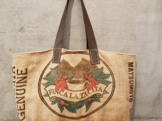 コーヒー麻袋を使ったバッグの画像