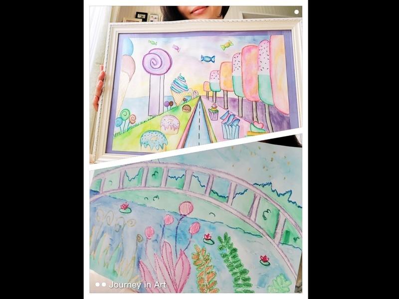 【英語で大人アート】絵を描く、絵画、美術クラスを楽しく学べますの画像
