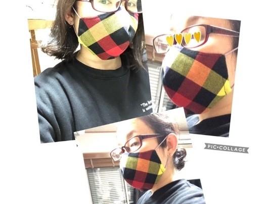 【zoomでソーイング 40分間 1対1 立体マスクの作り方】の画像