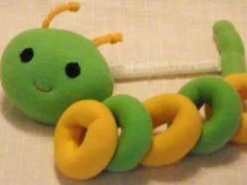 【オンライン】手指を育む布おもちゃ「マシュリング・あおむし」作りの画像