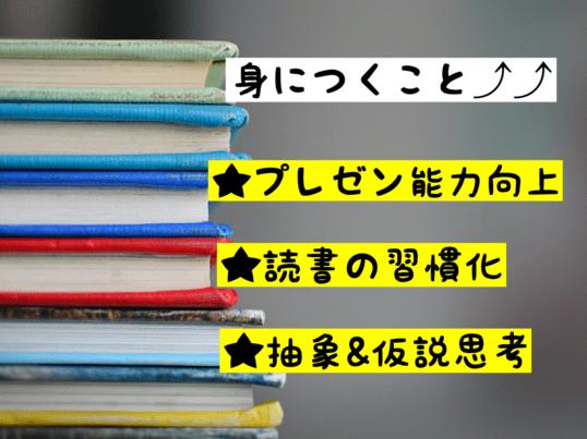 オンライン読書会「プレゼン能力向上・読書習慣をGETしよう」の画像