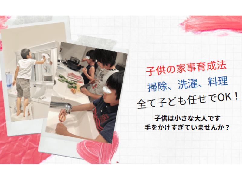 【子供の家事力育成法】掃除、洗濯、料理、育児、全部子供任せでOK!の画像