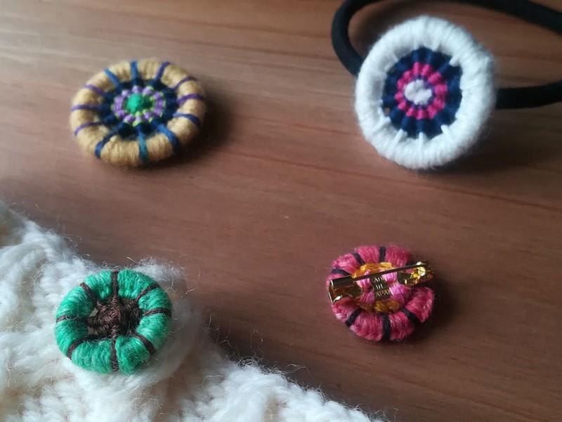 【オンライン】好きな糸を組み合わせて♪オリジナル糸巻きボタンの画像