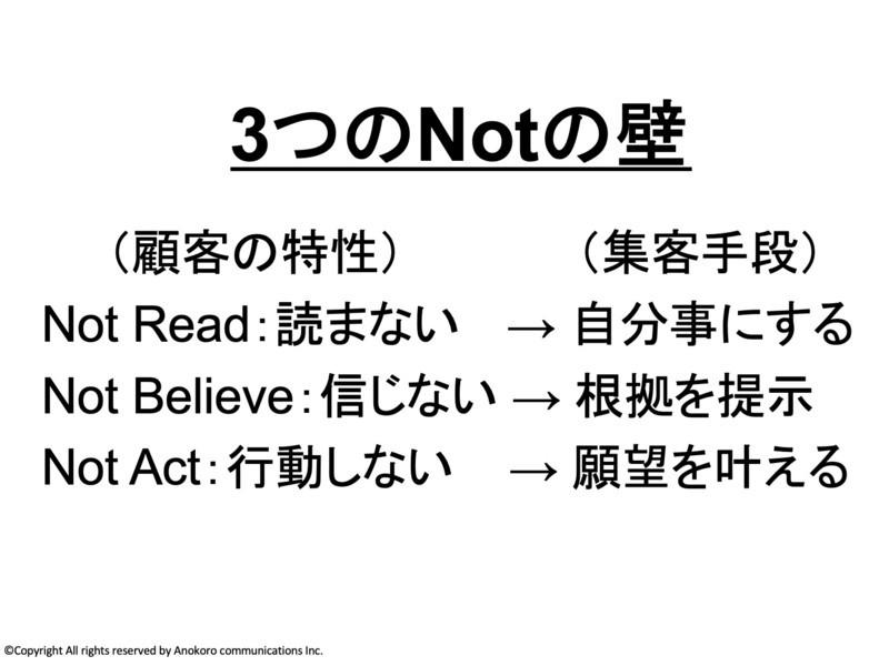ライティング集客術☆読まない→信じない→行動しないの壁を越える文章の画像