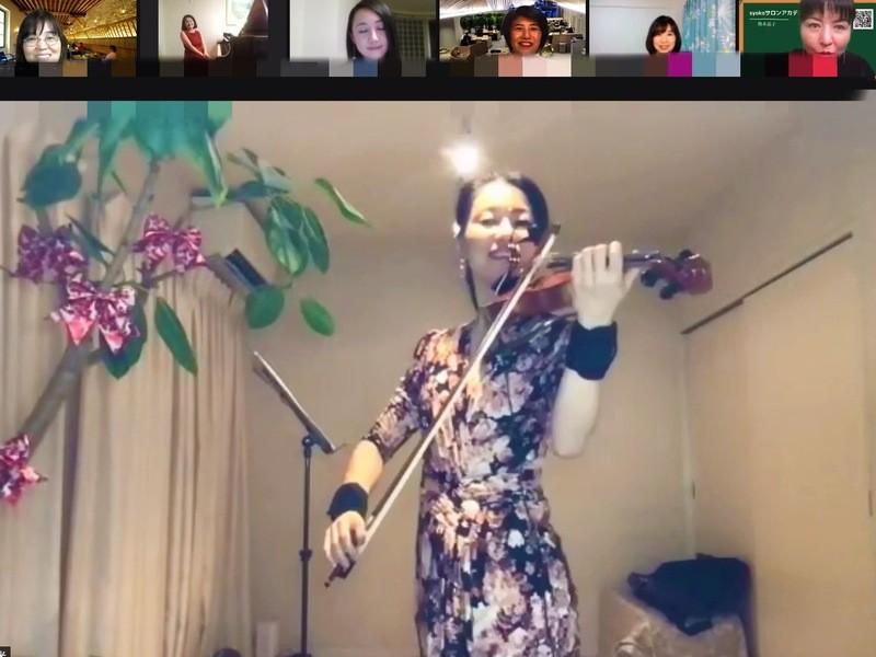 オンライン/リセットして解放感を得られる30分 バイオリン音楽講座の画像