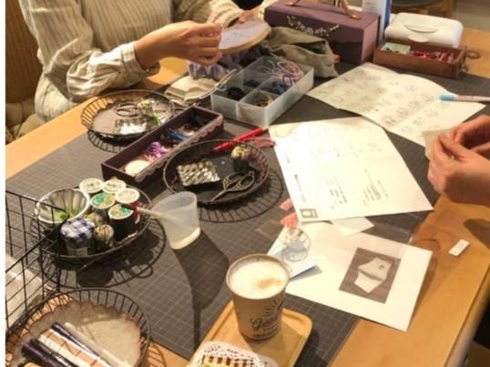 可愛い刺繍雑貨が作れるワークショップ!はじめてさん大歓迎。の画像