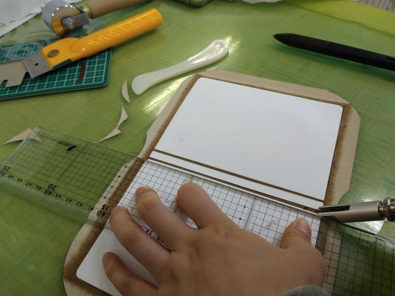 黒革の手帖を作るの画像