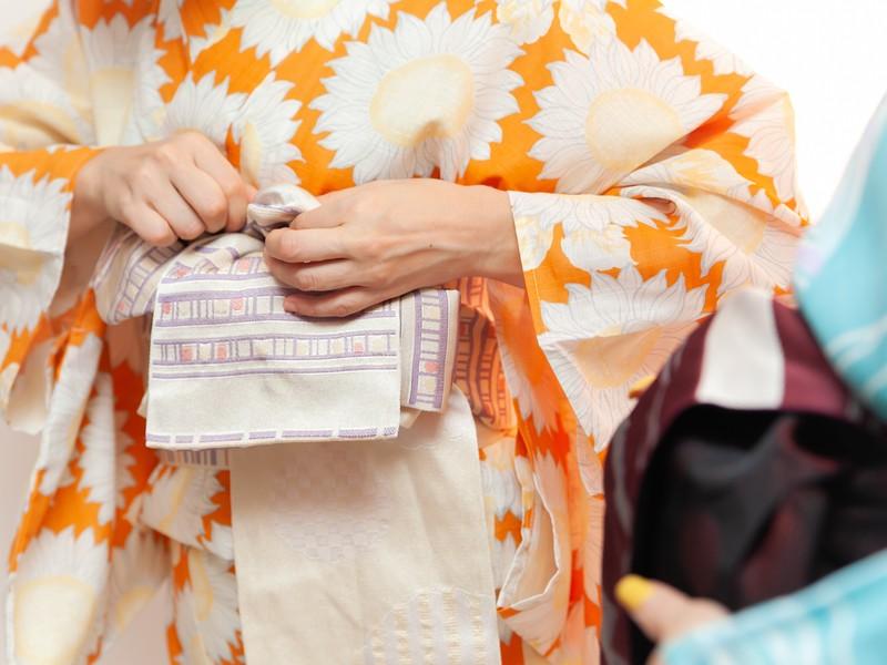 【渋谷で体験レッスン】30分で支度ができる着物着付け体験レッスン♪の画像