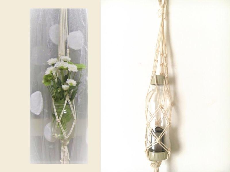 たこ糸で簡単!マクラメプラントハンガー作りの画像