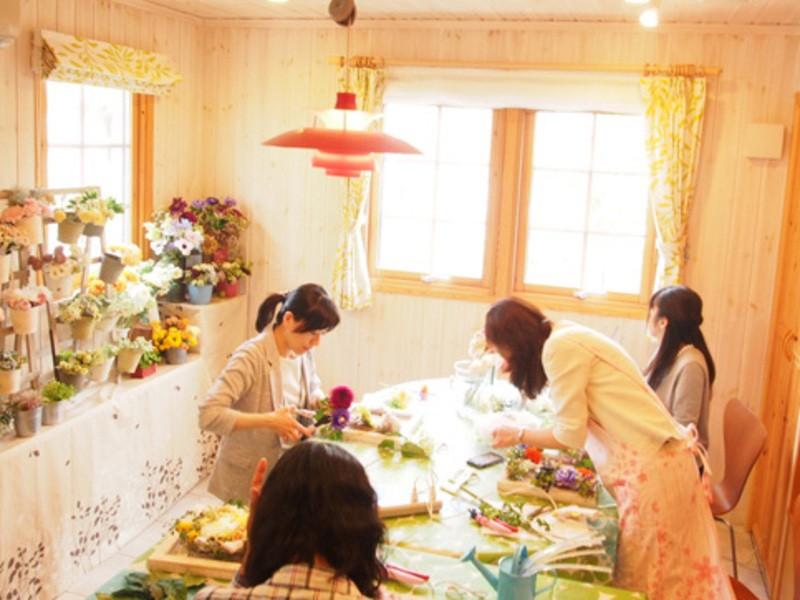 【対面/オンライン】春色のミモザのリース(東京・文京区)の画像