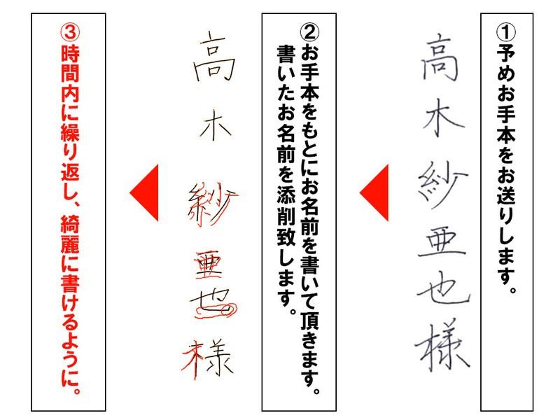 【自分の名前をきれいに書く】 正しい姿勢でペン字・ペン習字の画像